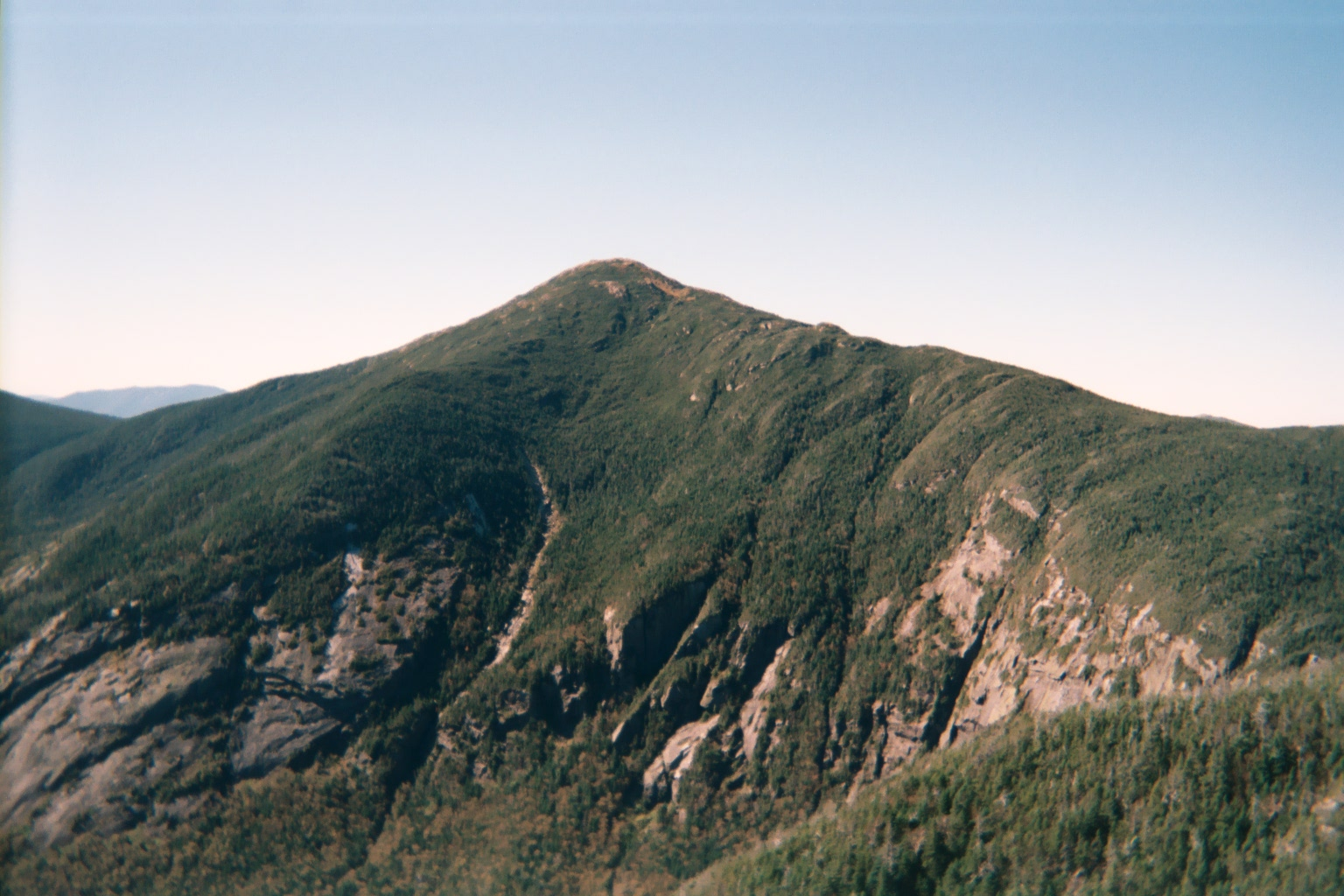 Image 9. Mount Marcy in the Adirondacks mountain range, New York State, USA. Photo taken from Mount Haystack, looking across Panther Gorge. Photo by Daniel Tripp.