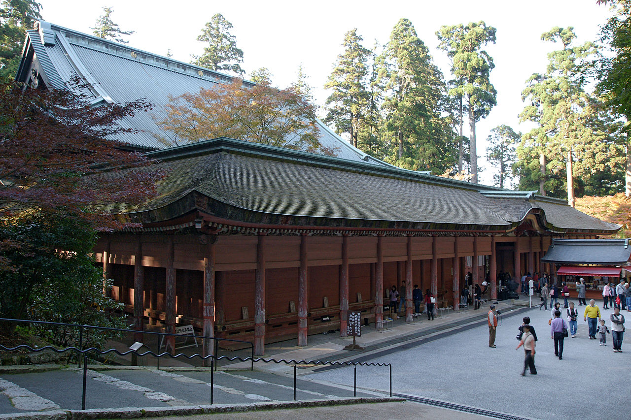 Image 20. Konpon-chudo [main hall of the temple which is the third largest wooden building in Japan] of Enryakuji ... temple [monastery] (Japan's National Treasure), Otsu, Shiga prefecture, Japan. It was rebuilt in 1642. Photo by 663highland.