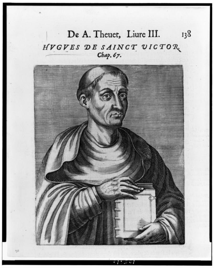 Image 4. Hugh of Saint-Victor. Date of Engraving not given. Artist not given. Photo downloaded from the Library of Congress website, Washington, D. C. (title by author)