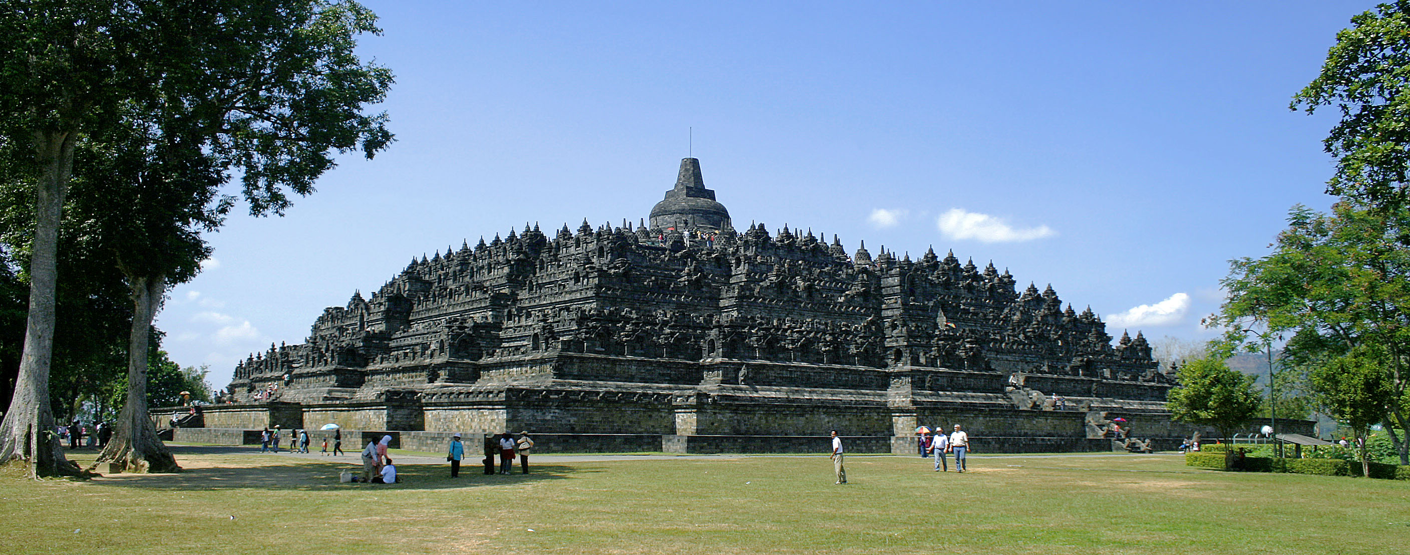 Image 12. Borobudur temple view from northwest plateau, Central Java, Indonesia. Photo by Gunawan Kartapranata.