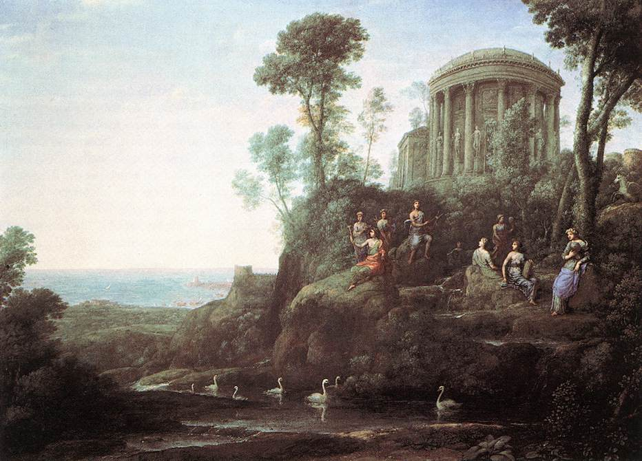 Image 13. Apollo and the Muses on Mount Helicon (Parnassus) (1680) by Claude Lorrain (1604/1605-1682), oil on canvass, Museum of Fine Arts, Boston [USA]. Photo by Web Gallery of Art.